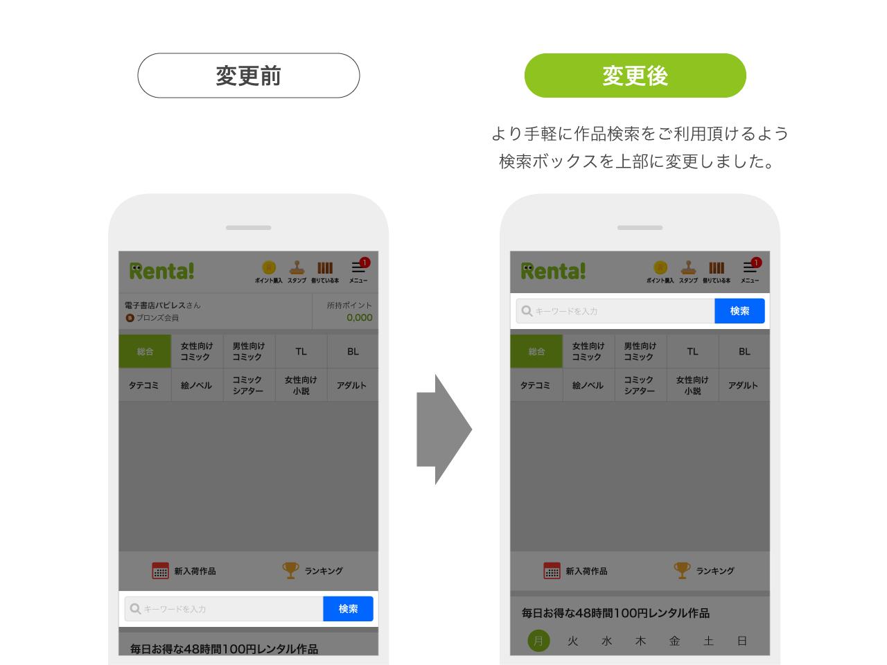 検索お知らせ1